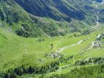 Les chalets de Miage vus du Mont Truc